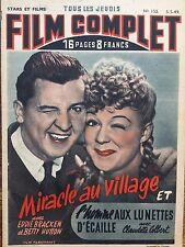 "FILM COMPLET 1949 N 152 "" MIRACLE AU VILAGE "" avec EDIE BRACKEN et BETTY HUTTON"
