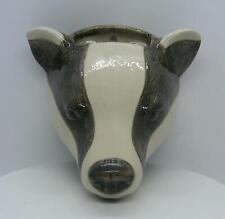 Quail Ceramics Badger Wall Vase 895