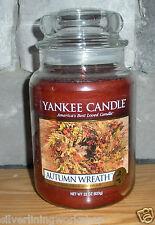Yankee Candle Autumn Wreath 22oz Jar! Priority Shipping! Yummy! Great Gift! B7