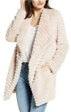 BB Dakota SUPER SOFT What a Girl Wants Faux Fur Coat PINK Size Large - XL NEW