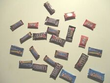 5 DOLLS HOUSE MINIATURE CHOCOLATE BARS MIXED