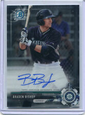 2017 BOWMAN CHROME RC PROSPECTS AUTO BRADEN BISHOP CPA-BS BRAND NEW