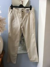Sainsburys Tu Beige Stone Cotton Trousers UK 14