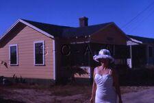Original Vintage 1962 Negative / 35mm Slide- Women's Fashion- Swimsuit- Hat