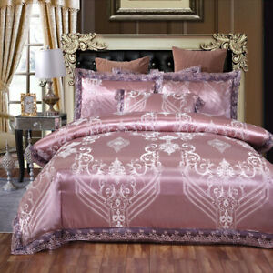 Satin bedding 1 piece duvet cover 1 piece bed sheet 2-piece pillow case 4 pieces