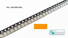 Pack of 100 Orange 1210 PLCC-2 3528 SMD SMT LED Light Chip