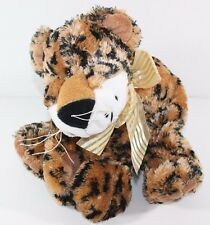 "Floppy Spotted Leopard Cheetah 14"" Plush Stuffed Animal Super Soft Beans"