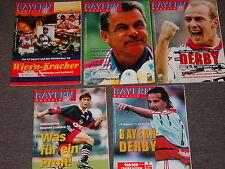 5 x FC Bayern München rivista del 1998 (N. 3, 4, 6, 7, 8) tutti con poster