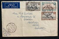 1936 Cairo Egypt Airmail cover To Hertford England