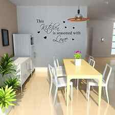 This kitchen is seasoned with love Wall Sticker Removable Vinyl Decal Art Quote