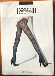 Wolford Leo Lace Tights pantyhose Large Black