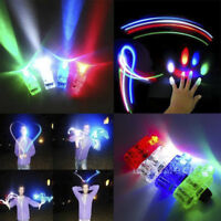 10Pcs LED Finger Light Up Ring Flashing Dance Party Favors Glow Beams Torch