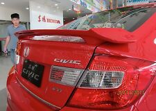 JSP 368048 Honda Civic Sedan Rear Spoiler Primed 2012-2015 OE Style with LED