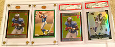 Calvin Johnson lot three rookies and a 2014 PSA graded and ungraded