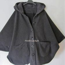 BORIS INDUSTRIES Lagenlook Fleece Cape Jacke Poncho Streifen one size 46-54
