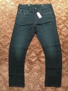 G-Star Men Jeans Type C 3D LOOSE Tapered COJ SIZE 34 Length 34