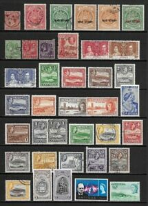 Collection of Old Stamps - ANTIGUA . . . . . . (4 pages)
