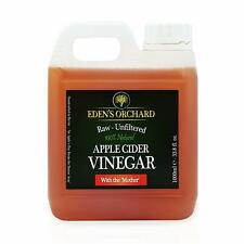 Raw Apple Cider Vinegar with Mother 1 Litre by Eden's Orchard