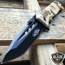 """8"""" Military Assisted Spring Tactical Rescue Pocket Hunting Folding OPEN Knife -T"""