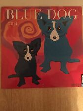 2014 BLUE DOG WALL CALENDAR BY GEORGE RODRIGUE--USED (LN)