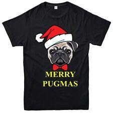 Pug Christmas T-Shirt, Merry Pugmas Funny Xmas Festive Adult & Kids Tee Top