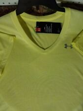 Womens Under Armour V-Neck Top NEW Loose Fit Athletic shirt 2XL Yellow