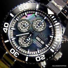 Invicta Reserve Pro Diver Diamond Swiss Automatic 7750 Valjoux Black Watch New