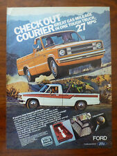 collectible vintage 1979 1980 1981 1982 Ford COURIER pickup truck magazine ad