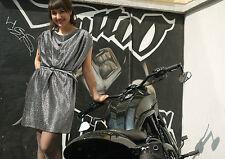 Damen Kleid Dress SILBER SILVER METALIC Lurex 90er TRUE VINTAGE 90´s Party Disco
