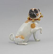 Porzellanfigur Großer sitzender Mops Hund Kämmer H20cm 9944332