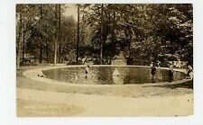 Kids Playing in Wading Pool RPPC Tacoma WA Toy Sail Boats—Antique Photo 1910s