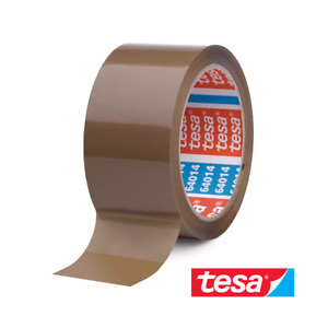 1 Rolle TESA Packband 64014 leise Klebeband Paketband Braun 50mm x 66m