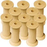 Wooden Bobbins Spools 50mm 10 Pack Sewing Ribbon Textile Yarn Craft 5mm dia hole