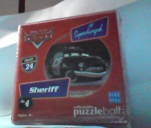 Disney Pixar Cars Supercharged Sheriff Puzzle Ball - 24 piece sphere puzzle -NEW