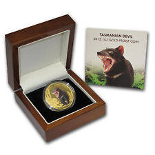 2013 Niue 1 oz Proof Gold Tasmanian Devil Endangered and Extinct - SKU #74156