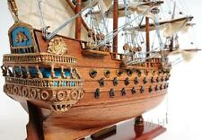 "San Felipe, Lead ship, Spanish Armada, Magnificent Wood model,  19"" Beauty"