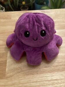 New Red Purple Reversible Flip Octopus Plush Toy Soft US Shipping Kids Emotions