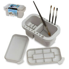 Loew Cornell Brush Tub / Cleaner with lid -Artist water holder palette paint