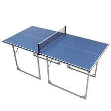 Professional MDF Indoor Table Tennis Table w/ Quick Clamp Ping Pong Net & Post
