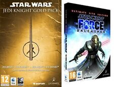 Star Wars Jedi Knight Gold Pack jedi academy+outcast & the force unleashed sith