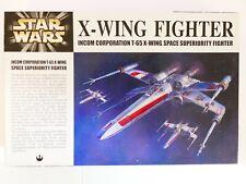 Star Wars Fine Molds 1/72 X-Wing Fighter Model Kit SW1 2400 BNIB from Japan 2001