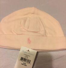 Ralph Lauren Cotton Hat  Baby Girl Hat One Size 0-6 Months Delicate Pink