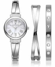 Timothy Stone Women's 'Legato' Crystal Accented Gold Watch & Bracelet Gift Set