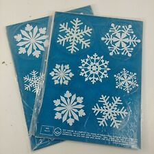 2 Limpy Klings Snowflakes 3502 Window Stickers Clings Christmas Decorations