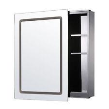Illuminated LED Mirror Cabinet Stainless Steel Modern IP44 Bathroom Lights 3
