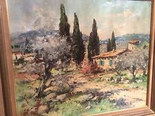 Yves LE GUEN Mas En Provence très belle peinture huile sur toile 10F
