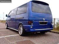 V W T 4 bus TAILGATE REAR ROOF Door SPOILER WING Extension Cover  Multivan VR6