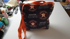 Houston Astros Baseball Team Logo Tote Bag-Machine Quilted-Hand Made