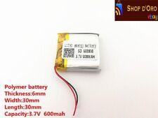 Batteria lipo ai polimeri di litio 3,7v 600mAh 603030 per rc arduino fai da te