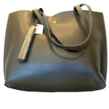 Faux Leather Tote Purse Black Large Handbag New With Tags Odm Original Design